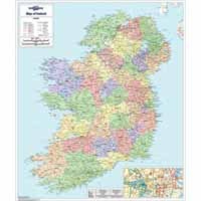 MAP MARKETING IRELAND POLITICAL MAP